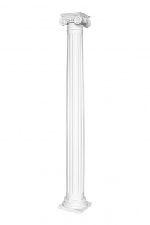 Säulen Halbsäulen rund kanneliert Komplett Stuck Barock PU Auswahl 152mm N3215
