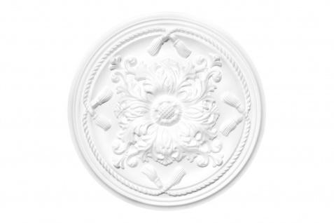 1 Rosette Deckenrosette Stuck Dekorrosette Sparpaket hart Polystyrol 46cm DR15