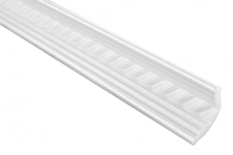 2 Meter | Eckprofil Polystyrolleiste Deckenleiste | Hexim | 25x35mm | M-05