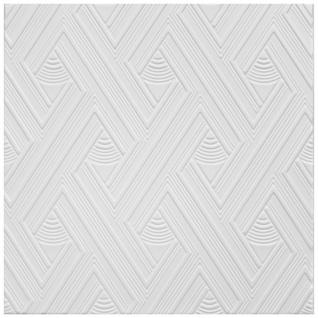 1 qm Deckenplatten Polystyrolplatten Stuck Decke Dekor Platten 50x50cm Nr.109