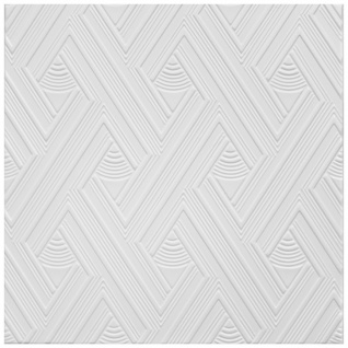 1 qm Deckenplatten Styroporplatten Stuck Decke Dekor Platten 50x50cm Nr.109