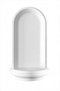 Nische Wand Stuck Dekor Zierelement weiß EPS Marbet 50x28cm N-10