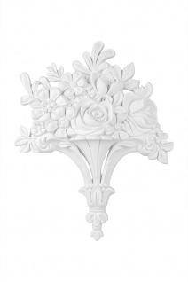 Ornament Relief Stuck Dekor Verzierung Barock Kunststoff PU 338x270mm G2199