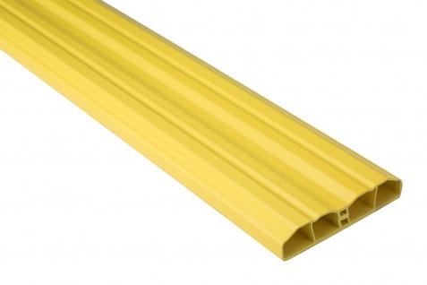 Zaunlatte PVC Garten Außenbereich Profile gelb Sparpaket Hexim 80x16mm PZL-17