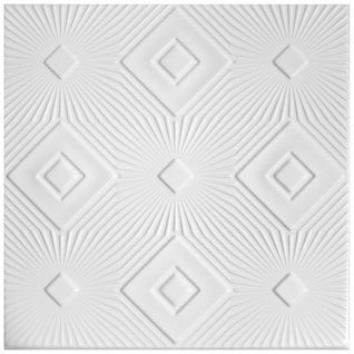 1 qm Deckenplatten Polystyrolplatten Stuck Decke Dekor Platten 50x50cm Nr.83