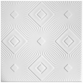 1 qm Deckenplatten Styroporplatten Stuck Decke Dekor Platten 50x50cm Nr.83