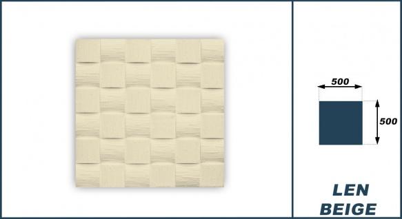 Sparpaket Deckenplatten Polystyrolplatten Decke Dekor Platten 50x50cm Len beige - Vorschau 3