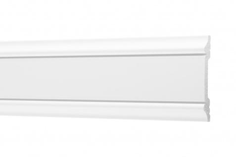 2 Meter Flachleisten HXPS Zierleisten Ecopolimer stoßfest hart Cosca 8x48mm CM6