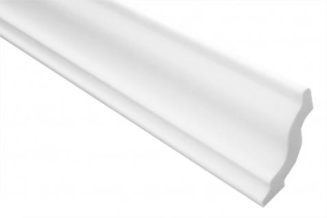 2 Meter Stuckleiste XPS Zierprofil Eckleiste stabil weiß Marbet 40x45mm E-5