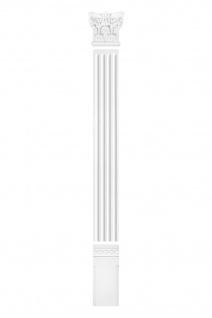Pilaster Fassade Komplett Wand Bauteile Flachsäule Dekor PU stoßfest PL250