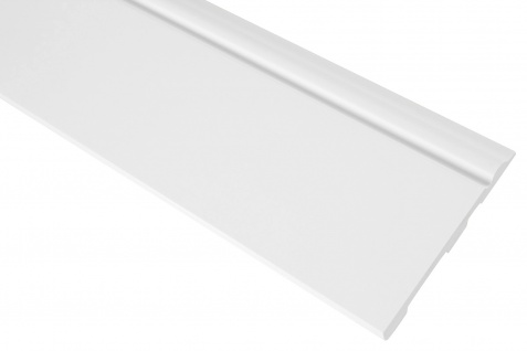 2 Meter | Sockelleiste | PU | stoßfest | Grand Decor | 120x15mm | CR941
