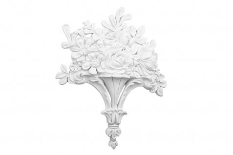 1 Ornament Dekorelement PU Stuckdekor Innen Wanddekor stoßfest 270x340mm, W868