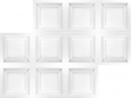 1 Deckenplatte Polystyrolplatten Stuck Decke Dekor Platten 60x60cm R241 - Vorschau 2