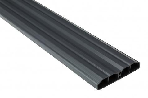 Zaunlatte PVC Garten Außenbereich Profile graphit Sparpaket Hexim 80x16mm PZL-31