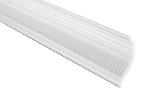 2 Meter | Eckprofil Polystyrolleiste Deckenleiste | Hexim | 58x80mm | M-08