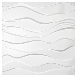 3D Wandpaneele Styroporplatten Wandverkleidung Wanddekor Verblender Zephyr Sparpaket - Vorschau 3