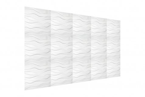 3D Wandpaneele Styroporplatten Wandverkleidung Wanddekor Verblender Zephyr Sparpaket - Vorschau 4