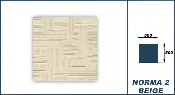 Sparpaket Deckenplatten Polystyrol Stuck Decke Dekor Platten 50x50cm Norma2 beige - Vorschau 3