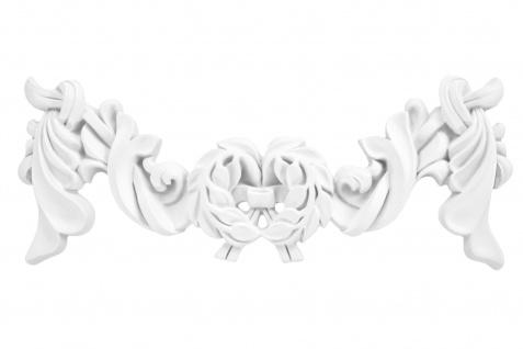 1 Ornament Dekorelement PU Stuckdekor Innen Wanddekor stoßfest 130x330mm, A609