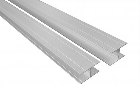 2 Meter Bastlerleiste H-Profil Rostfrei Alu Eloxiert Belastbar Effector B82-B83