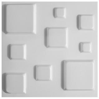 3D Paneele PS Platten Wand Decke Verkleidung Wandplatten Sparpaket 50x50cm Hexim Cube