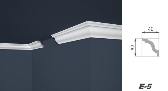 2 Meter Stuckleiste XPS Zierprofil Eckleiste stabil weiß Marbet 40x45mm E-5 - Vorschau 2