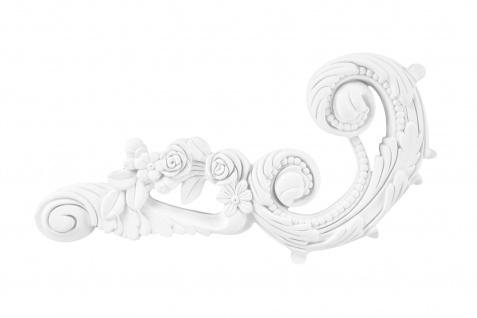1 Ornament Dekorelement PU Stuckdekor Innen Wanddekor stoßfest 280x140mm, W867L/R