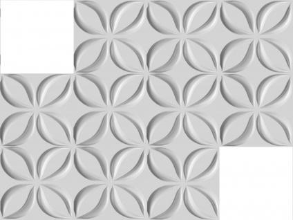 3D Wandpaneele Styroporplatten Wandverkleidung Wanddekor Verblender Lotos Sparpaket - Vorschau 3
