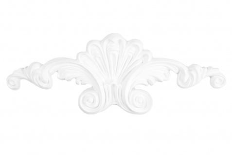 1 Ornament Dekorelement PU Stuckdekor Innen Wanddekor stoßfest 220x80mm, W810