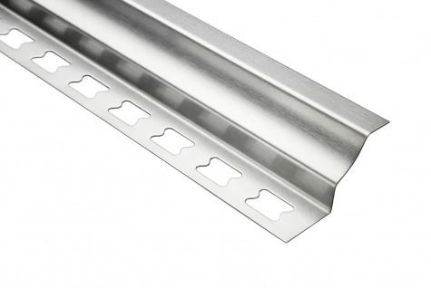 Hohlkehlenprofil rund 12mm | Edelstahlschienen - silber gebürstet | EIR Sparpaket