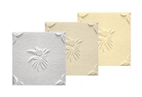 1 qm Deckenplatten Polystyrolplatten Stuck Decke Dekor Platten 50x50cm Natura