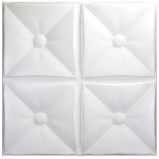 3D Paneele PS Platten Wand Decke Verkleidung Wandplatten Sparpaket 50x50cm Hexim Cozy