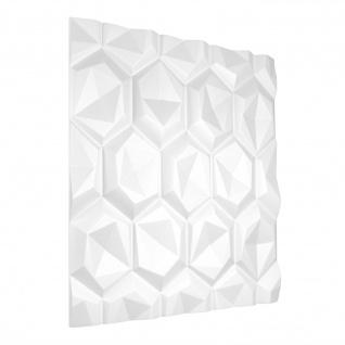 3D Paneel | Styroporplatten | Wandverkleidung | EPS | 60x60cm | Hexagon