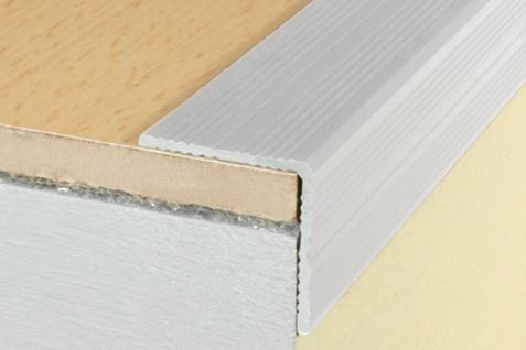 1, 8 Meter Winkel Eckprofile Alu Treppenleiste eloxiert rostfrei 25x25mm A40SK
