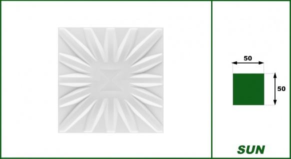 3D Wandpaneele Styroporplatten Wandverkleidung Wanddekor Paneele Sun 1 qm - Vorschau 2