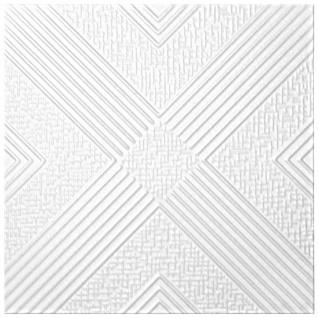 1 qm Deckenplatten Polystyrolplatten Stuck Decke Dekor Platten 50x50cm Nr.73