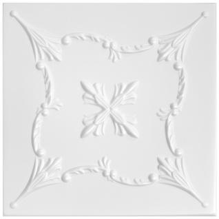 1 qm Deckenplatten Polystyrolplatten Stuck Decke Dekor Platten 50x50cm Nr.72 - Vorschau 1