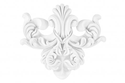 1 Ornament Dekorelement PU Stuckdekor Innen Wanddekor stoßfest 320x280mm, A640