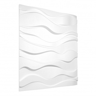 3D Wandpaneele Styroporplatten Wandverkleidung Wanddekor 60x60cm Zephyr 1 Platte