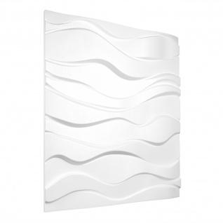3D Wandpaneele Styroporplatten Wandverkleidung Wanddekor Paneel Zephyr 1 Platte