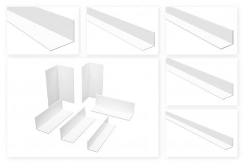 Winkelleisten PVC weiß 2m - gleichschenklig, 1 bis 4mm Stärke - HJ
