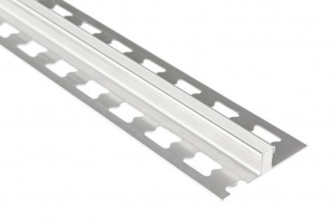 Dehnungsfugenprofil 10mm | Edelstahl Fliesenschienen - silber gebürstet | ED Sparpaket