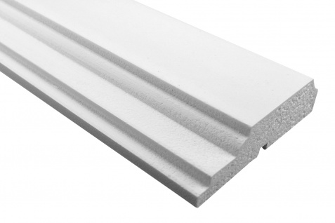 Fassade Außenstuck Gesims mit Ausprägung EPS PU stoßfest 45x170mm Sparpaket MC167