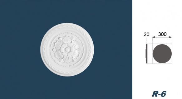 1 Rosette | Decke Stuck Innendekor EPS Dekor Marbet Durchmesser 30cm R-6 - Vorschau 3