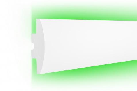 1, 15 Meter LED Profil XPS Stuck Trockenbau Tesori Beleuchtung 120x44mm KD506