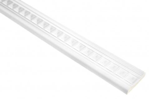 2 Meter | PU Flachleiste Profil Innen Dekor stoßfest | Hexim | 39x10mm | FH9475
