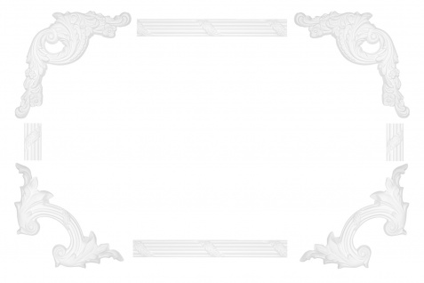 Wand und Deckenumrandung Fries Spiegel Bilderrahmen Stuck Dekor stoßfest AC290