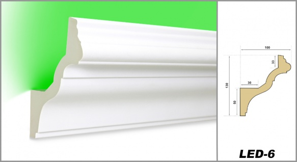 2 Meter | LED Profil | PU | stoßfest | Hexim | 130x100mm | LED-6 - Vorschau 2