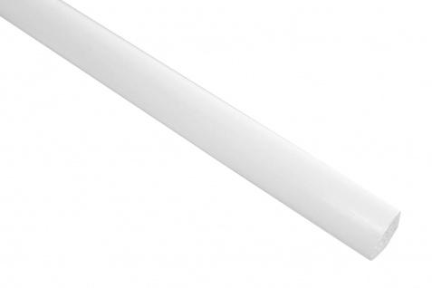 2 Meter PVC Zierleiste Viertelstab glatt stoßfest Effector 10x10mm F08