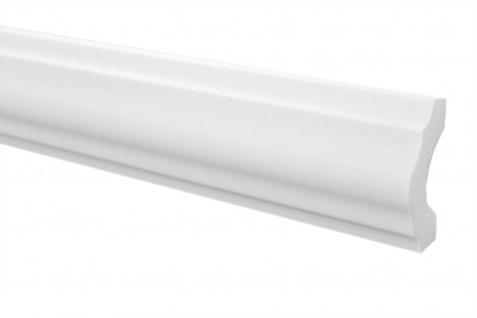 2 Meter Stuckleiste XPS Zierprofil Flachleiste stabil Marbet 18x38mm E-18